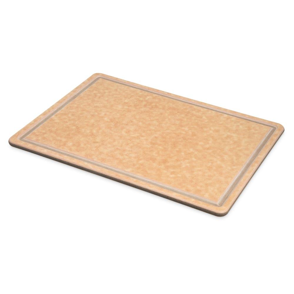 """San Jamar TC152012GV Tuff-Cut Resin Cutting Board, Grooved, 15"""" X 20"""" X 1/2 in, NSF"""