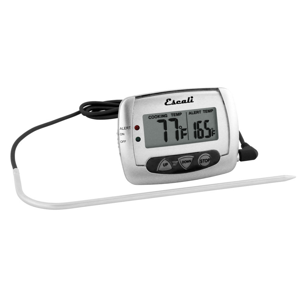 "San Jamar THDGP Escali 7"" Digital Thermometer w/ 32° to 392°F Temperature Range"