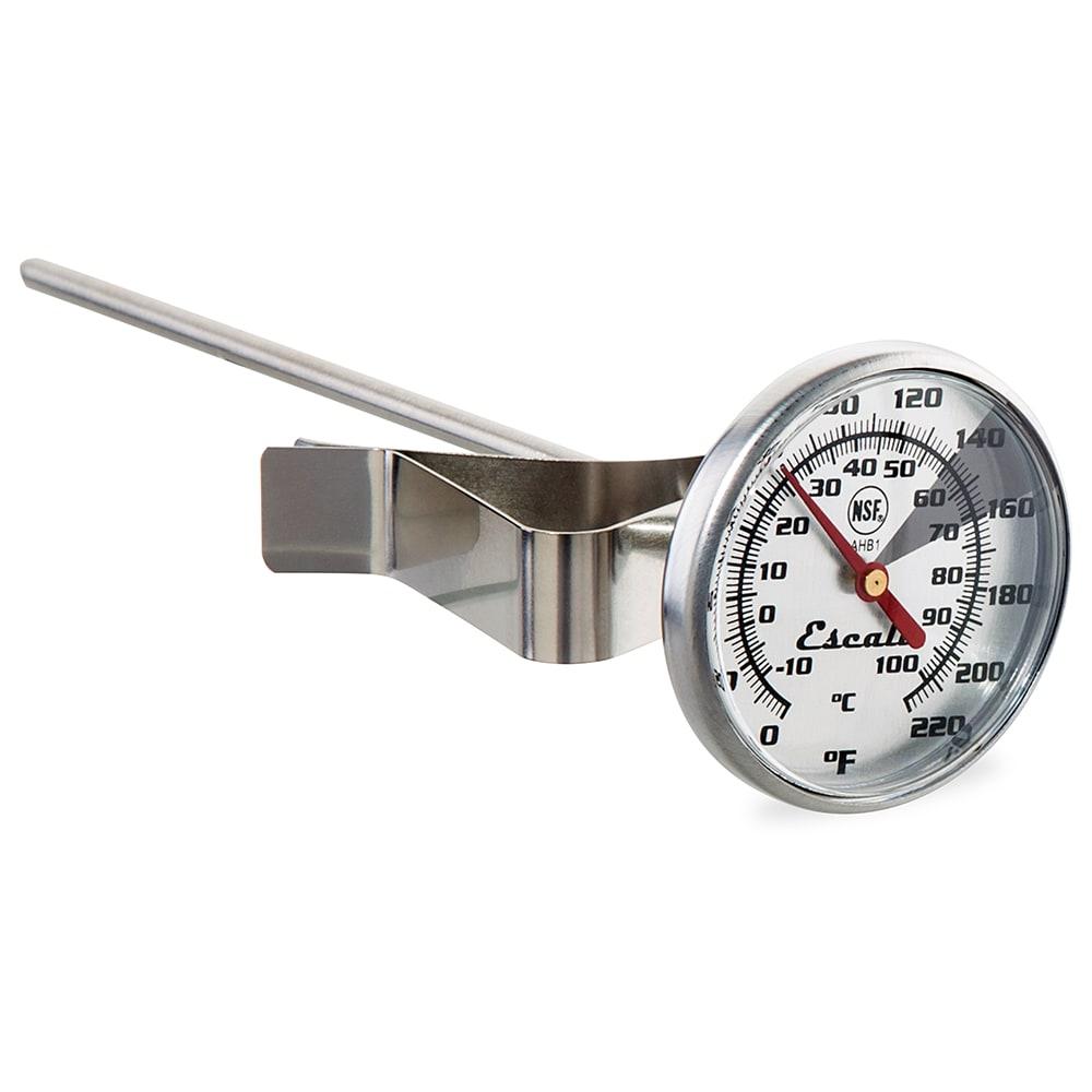 "San Jamar THDLBEV Escali 5"" Dial Beverage Thermometer w/ 0° to 220°F Temperature Range"