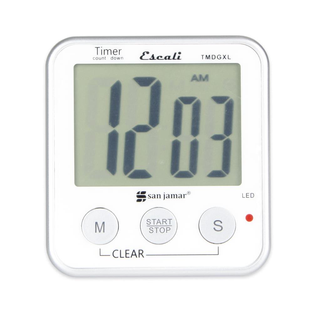 "San Jamar TMDGXL Escali Digital Timer w/ Minute & Second Timing - 3.5"" x 3.25"", White"