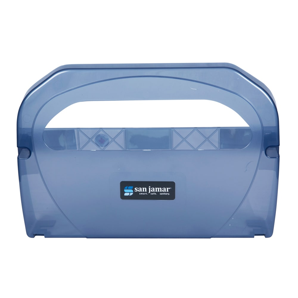 San Jamar TS510TBL Hygienic Toilet Seat Cover Dispensers w/ One At A Time Dispensing, Arctic Blue