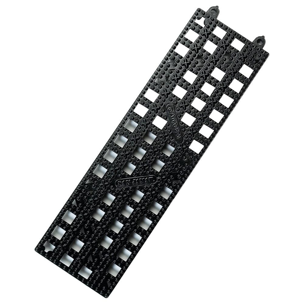 "San Jamar VM5180BK Versa-Mat Kolor-Cut Strip, 3.5"" X 12"" Bar Matting"