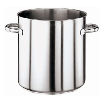 World Cuisine 11001-50 103.5 qt Stainless Steel Stock Pot - Induction Ready