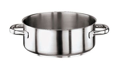 World Cuisine 11009-28 6.125-qt Stainless Steel Braising Pot