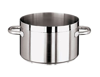 "World Cuisine 11107-36 23.25 qt Stainless Sauce Pot - 14.125"" x 8.5"""