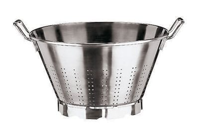 World Cuisine 11927-36 Vegetable Strainer w/ Dual Handle, 13.5 qt, Stainless