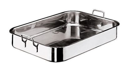 "World Cuisine 11943-61 Roasting Pan w/ Dual Fixed Handles, 17 x 24"", Stainless"