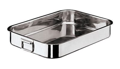 "World Cuisine 11944-40 Roasting Pan w/ Folding Handles, 10.25 x 15.75"", Stainless"