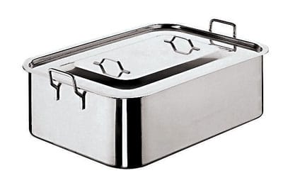 "World Cuisine 11965-50 Roasting Pan w/ Cover, 11 7/8 x 19 5/8"", Stainless"