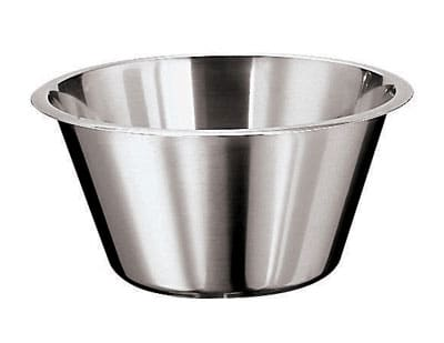 World Cuisine 12580-45 Mixing Bowl w/ Flat Bottom & Open Round Edge, 26.5 qt, Stainless