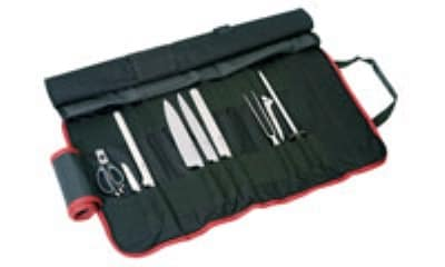 World Cuisine 18190-09 9 Piece Cutlery Set w/ Roll Bag