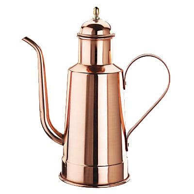 World Cuisine 41781-10 Oil Dispenser w/ Wood Handle, 1 1/8 qt, Copper