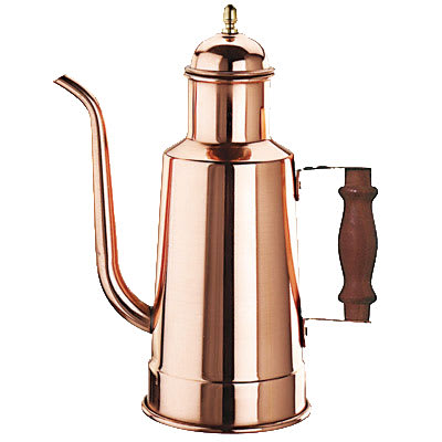 World Cuisine 41781-15 Oil Dispenser w/ Wood Handle, Copper/Tin