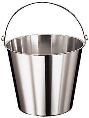 World Cuisine 41960-12 Graduated Bucket, 12 5/8 qt, Stainless