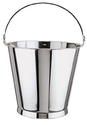 World Cuisine 41961-12 Graduated Bucket, 12 5/8 qt, Stainless w /Base