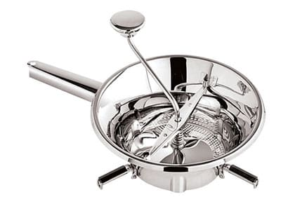 "World Cuisine 42572-24 Food Mill, 9.5 x 3.5"", Stainless Steel"
