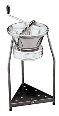 World Cuisine 42577-39 Food Mill w/ Black Stand, 15 qt Capacity, Tinned Steel