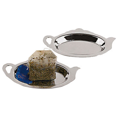 World Cuisine 42619-02 Set of Two Tea Bag Rest, Stainless