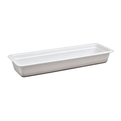 "World Cuisine 44334-03 Hotel Food Pan, 2/4 Size, 3/4"" Deep, Porcelain"