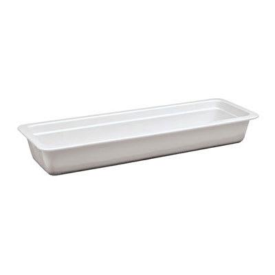"World Cuisine 44334-06 Hotel Food Pan, 2/4 Size, 2.5"" Deep, Porcelain"