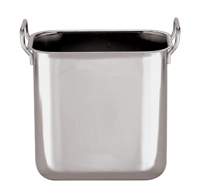 World Cuisine 44502-01 Square Bain Marie Insert, 5.25-qt, Stackable, Stainless Steel