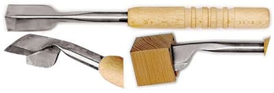 "World Cuisine 47885-02 12.5"" Ice Carving Chisel, Stainless Blade, Beech Wood Handle"
