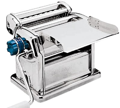 World Cuisine 49840-00 Pasta Machine, Manual, Laminates & Cuts, Chrome & Stainless Steel