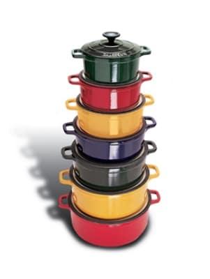 World Cuisine A1737116 Enameled Cast Iron Dutch Oven w/ Lid, 1.75-qt, Blue
