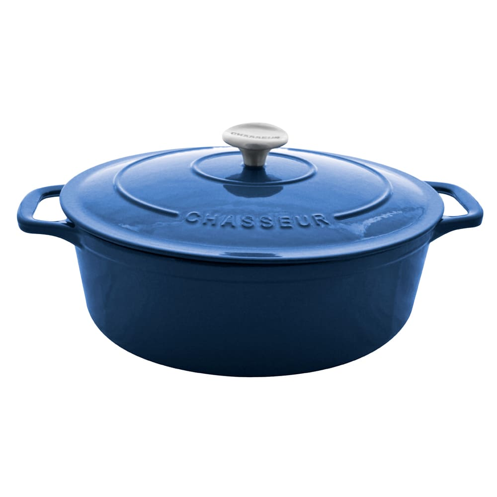 World Cuisine A1737135 Enameled Cast Iron Dutch Oven w/ Lid, 8-qt, Blue