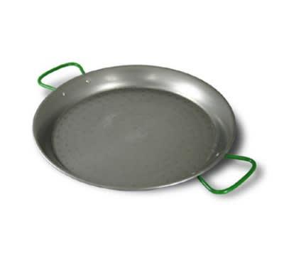"World Cuisine A4172480 31.5"" Carbon Steel Paella Pan"