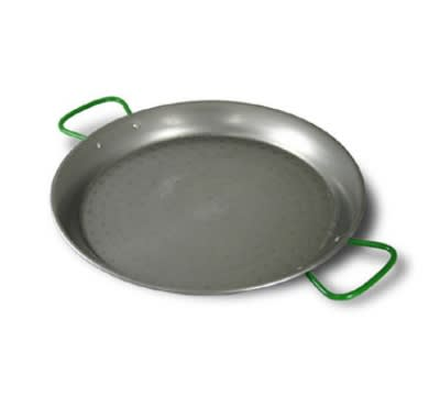 "World Cuisine A4172490 35.5"" Carbon Steel Paella Pan"
