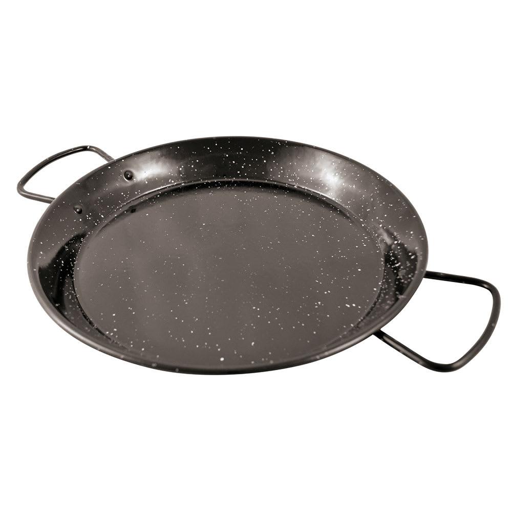 "World Cuisine A4982181 10.25"" Carbon Steel Paella Pan"