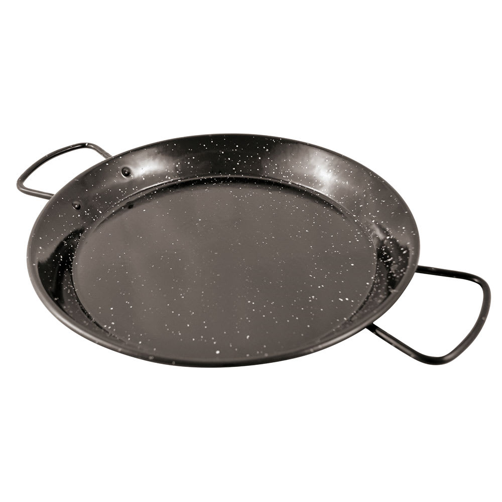 "World Cuisine A4982184 15"" Carbon Steel Paella Pan"