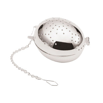 "World Cuisine A4982411 2"" Egg-Shaped Tea Infuser, Silverplated"