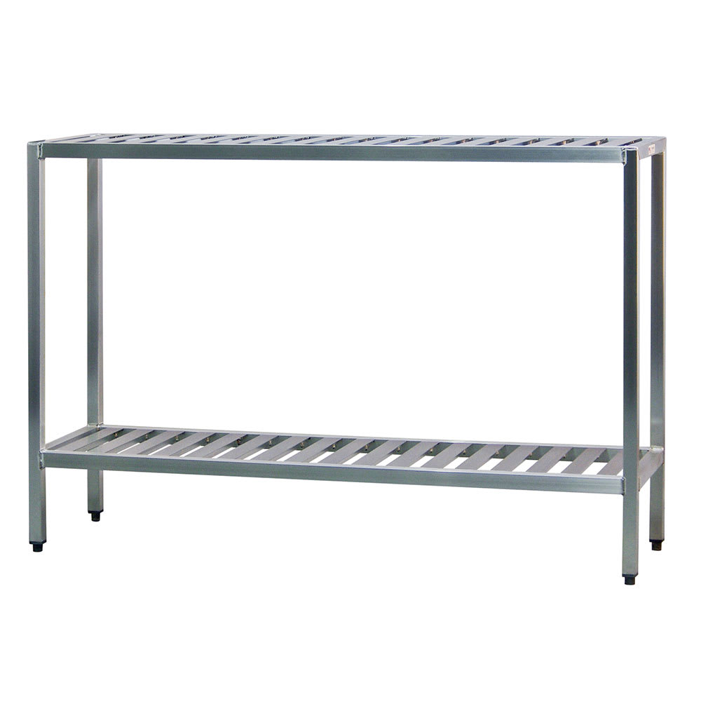 "New Age 1023TB 60"" Heavy-duty Shelving Unit w/ 1000 lb Capacity, Aluminum"