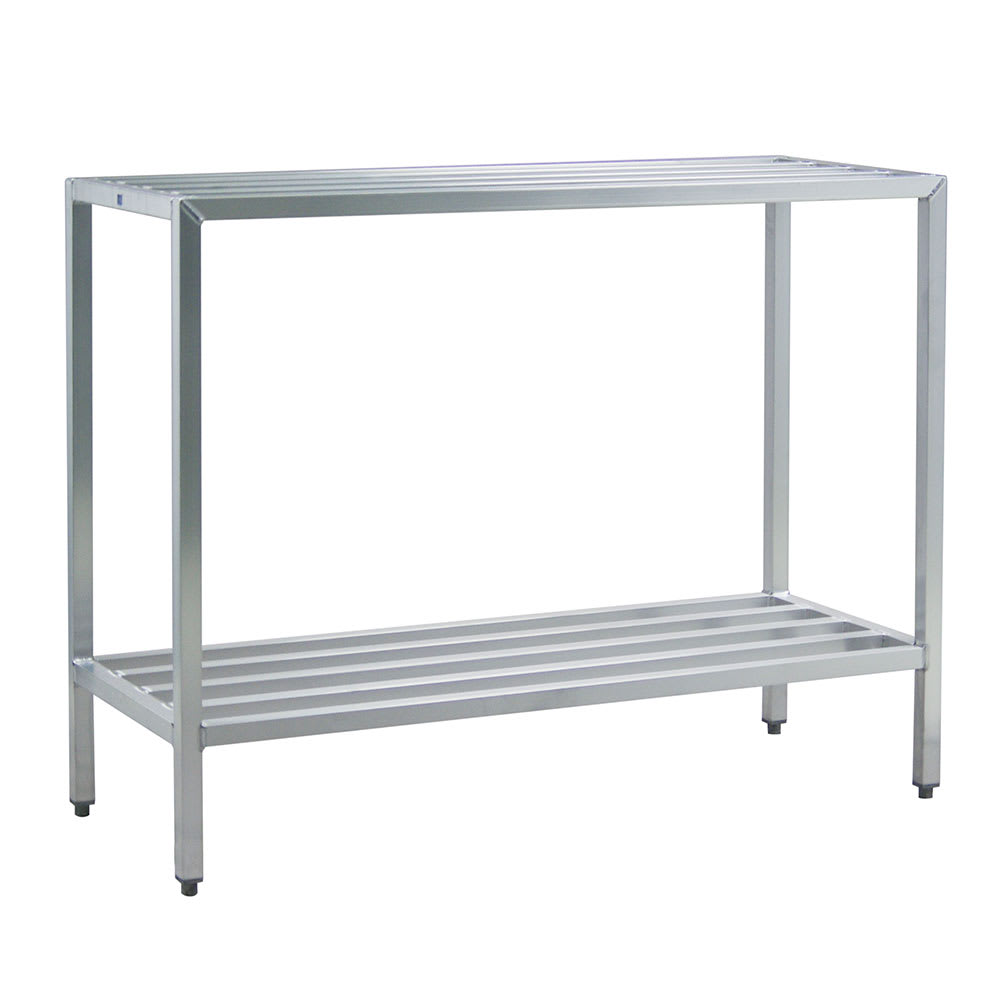 "New Age 1027 60"" Heavy-duty Shelving Unit w/ 1500-lb Capacity, Aluminum"