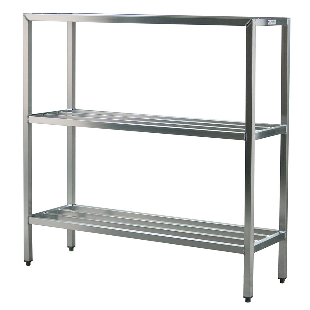 "New Age 1043 60"" Heavy-duty Shelving Unit w/ 1500-lb Capacity, Aluminum"