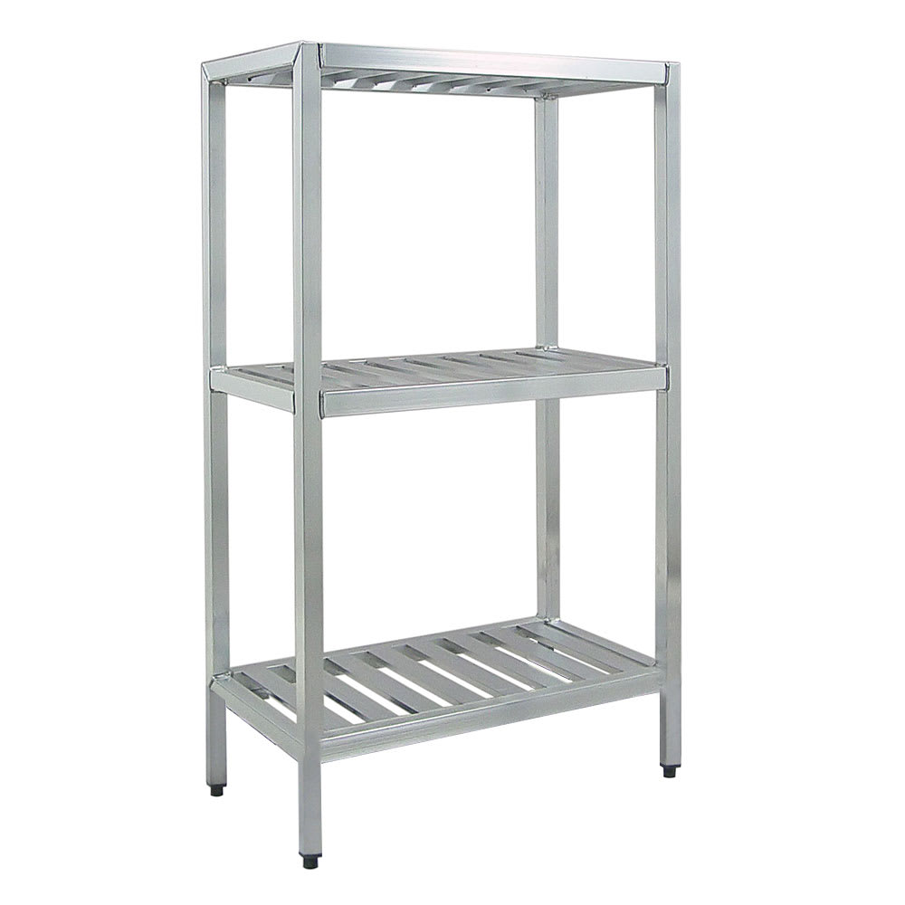 "New Age 1043TB 60"" Heavy-duty Shelving Unit w/ 1000 lb Capacity, Aluminum"