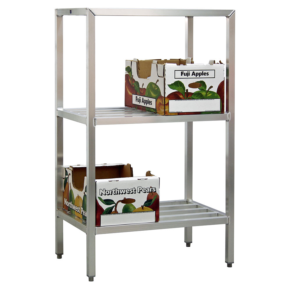 "New Age 1046 48"" Heavy-duty Shelving Unit w/ 1500-lb Capacity, Aluminum"