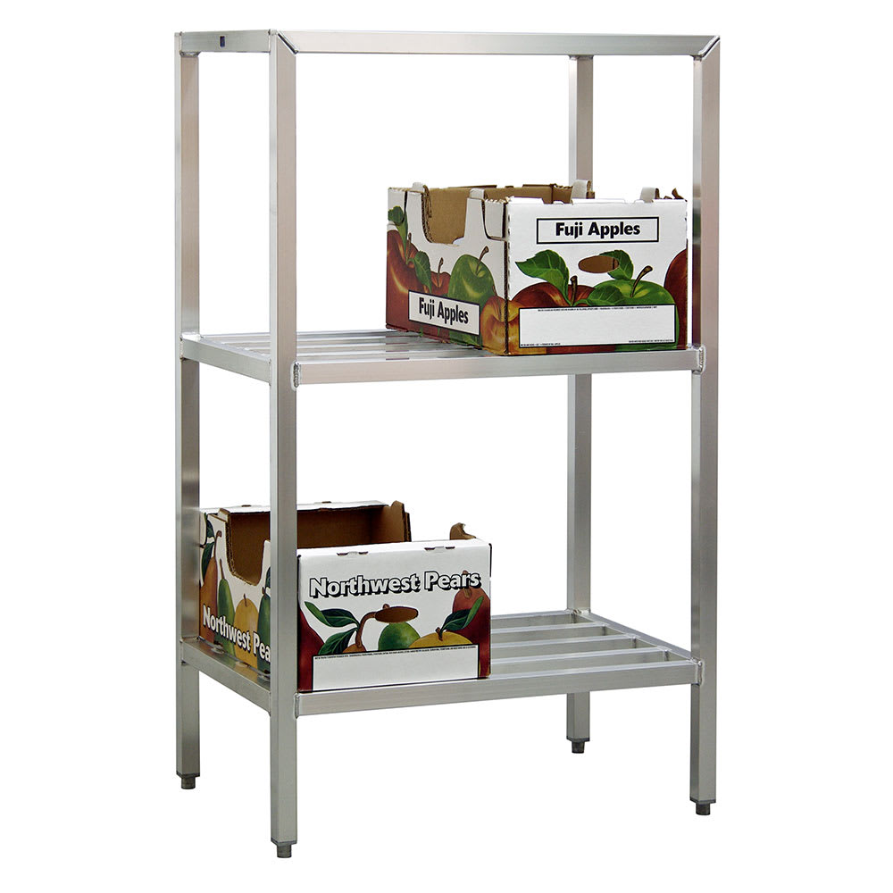 "New Age 1047 60"" Heavy-duty Shelving Unit w/ 1500 lb Capacity, Aluminum"