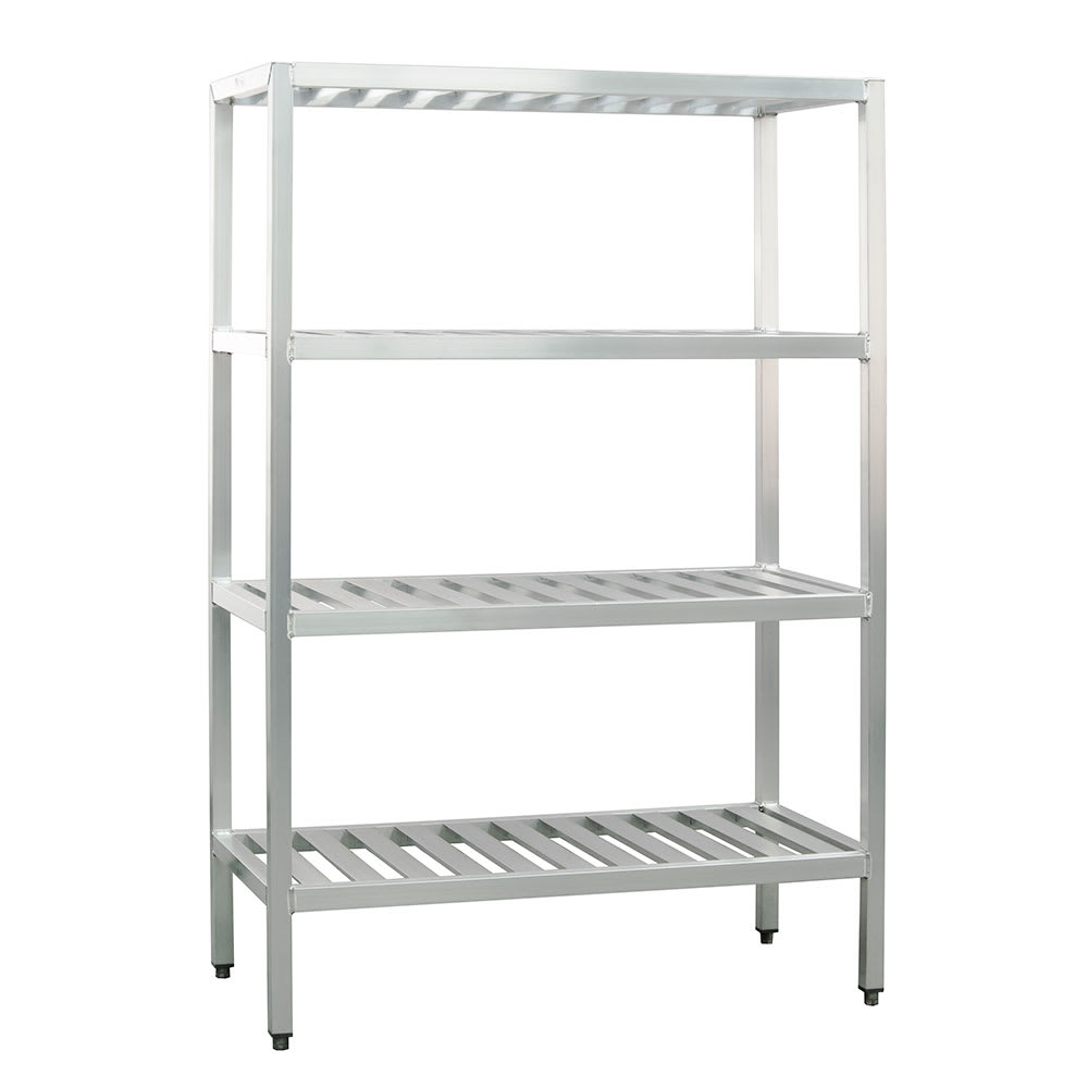 "New Age 1062TB 48"" Heavy-duty Shelving Unit w/ 1000 lb Capacity, Aluminum"