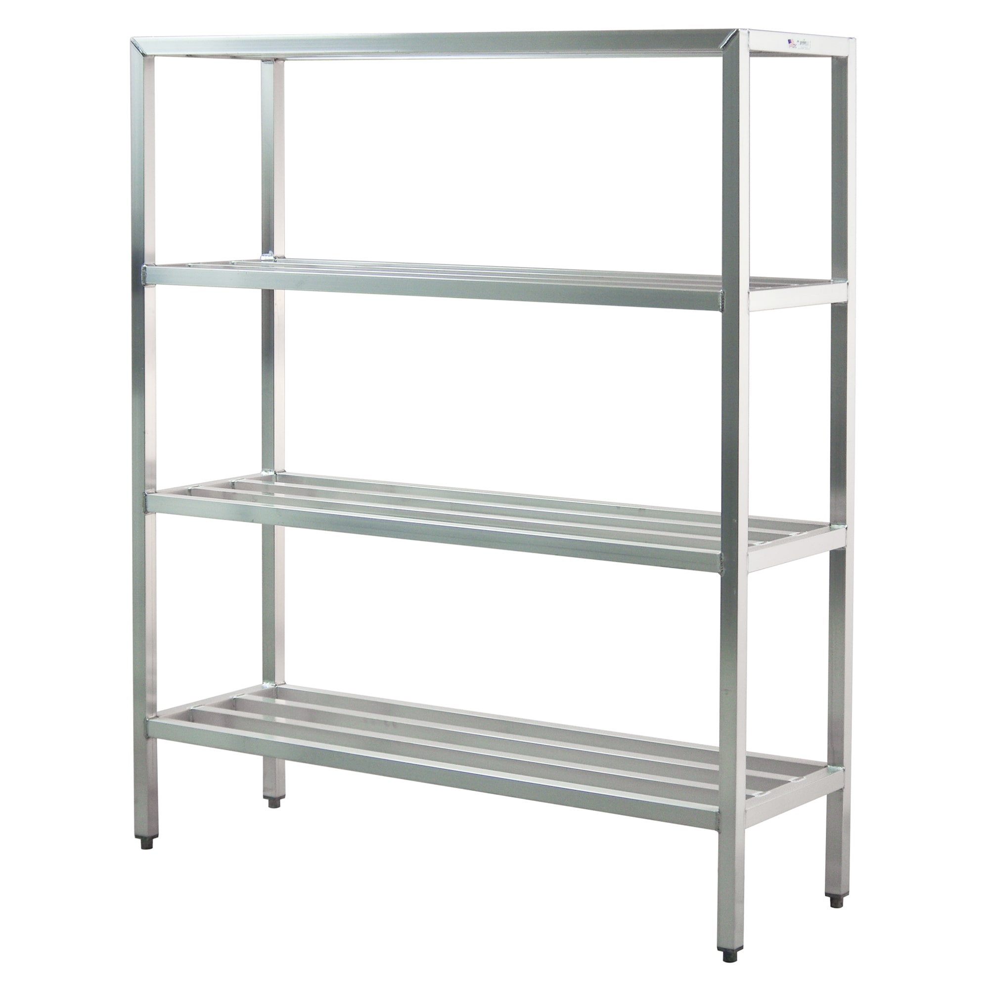 "New Age 1063 60"" Heavy-duty Shelving Unit w/ 1500 lb Capacity, Aluminum"