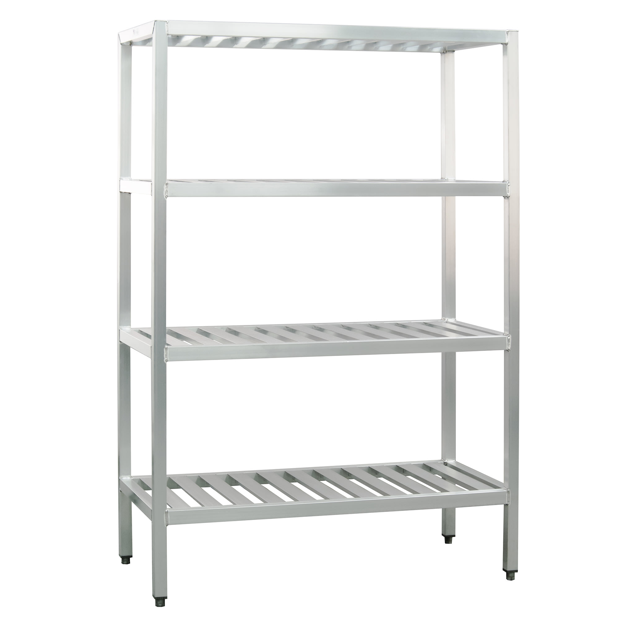 "New Age 1066TB 48"" Heavy-duty Shelving Unit w/ 1000 lb Capacity, Aluminum"