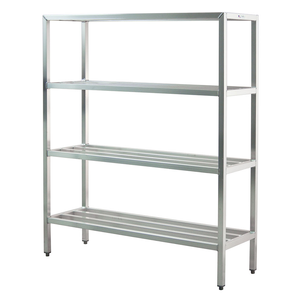 "New Age 1067 60"" Heavy-duty Shelving Unit w/ 1500-lb Capacity, Aluminum"