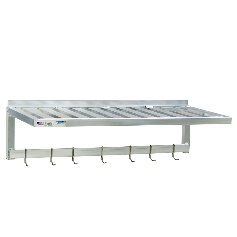 "New Age 1121PR T-Bar Wall Mounted Shelf, 36""W x 20""D, Aluminum"