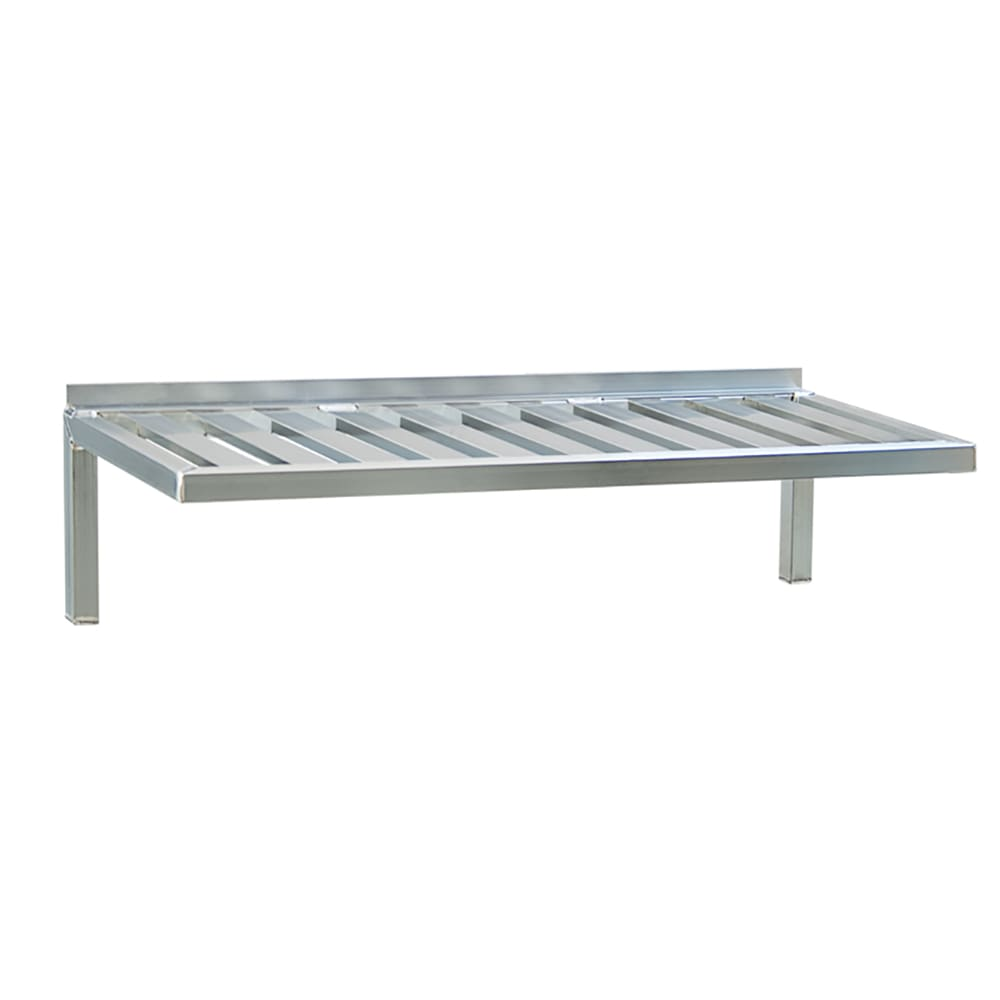 "New Age 1122 T-Bar Wall Mounted Shelf, 48""W x 20""D, Aluminum"