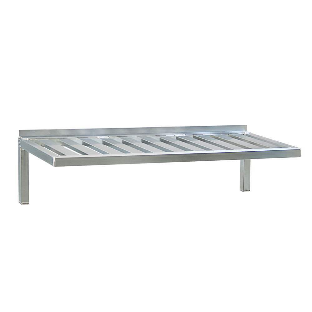 "New Age 1124 T-Bar Wall Mounted Shelf, 60""W x 24""D, Aluminum"