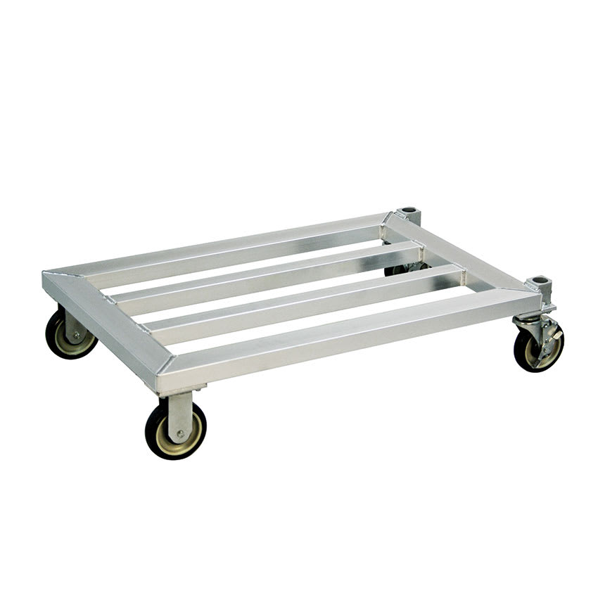 "New Age 1202 37.75"" Mobile Dunnage Rack w/ 1000-lb Capacity, Aluminum"