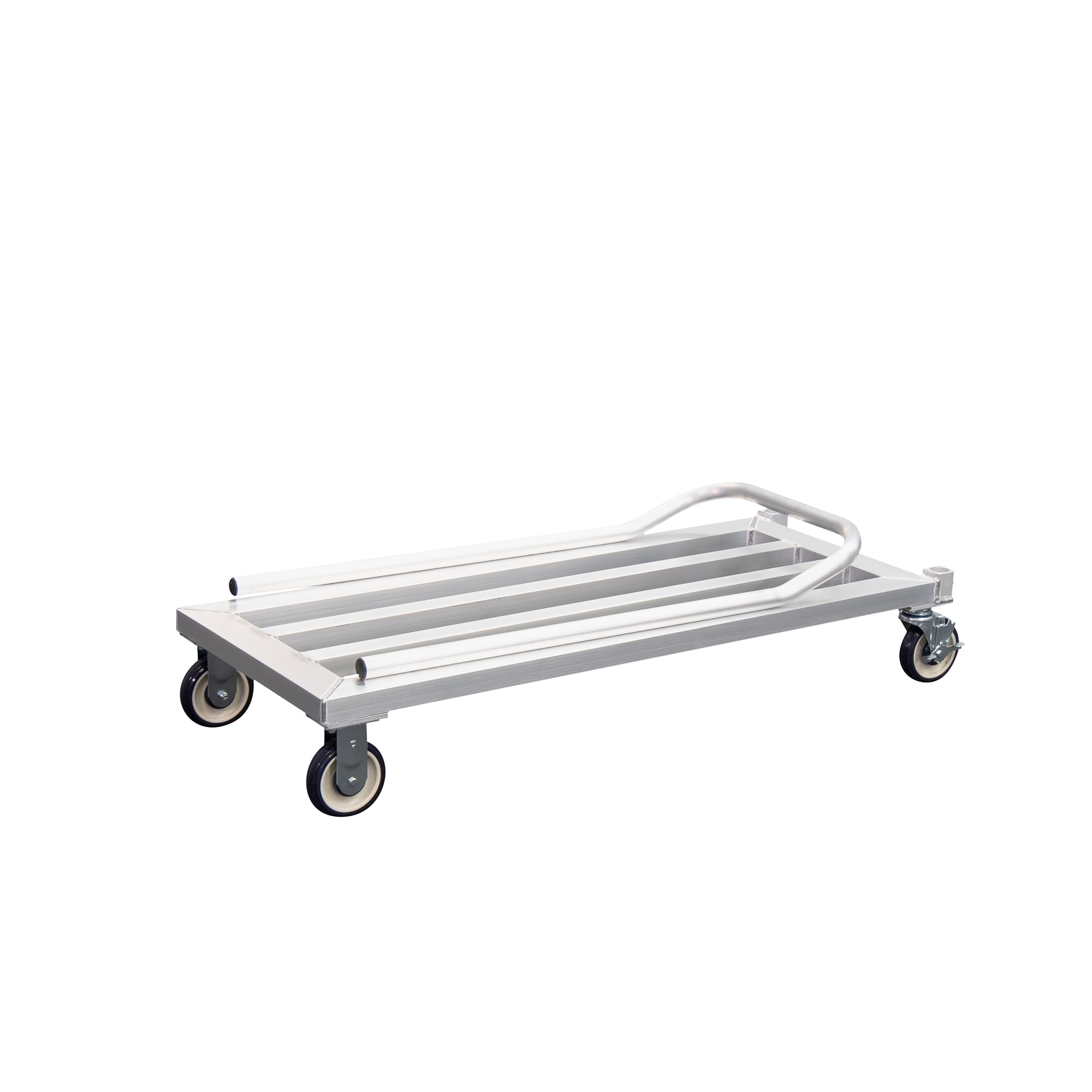 "New Age 1203 49.75"" Mobile Dunnage Rack w/ 1000 lb Capacity, Aluminum"