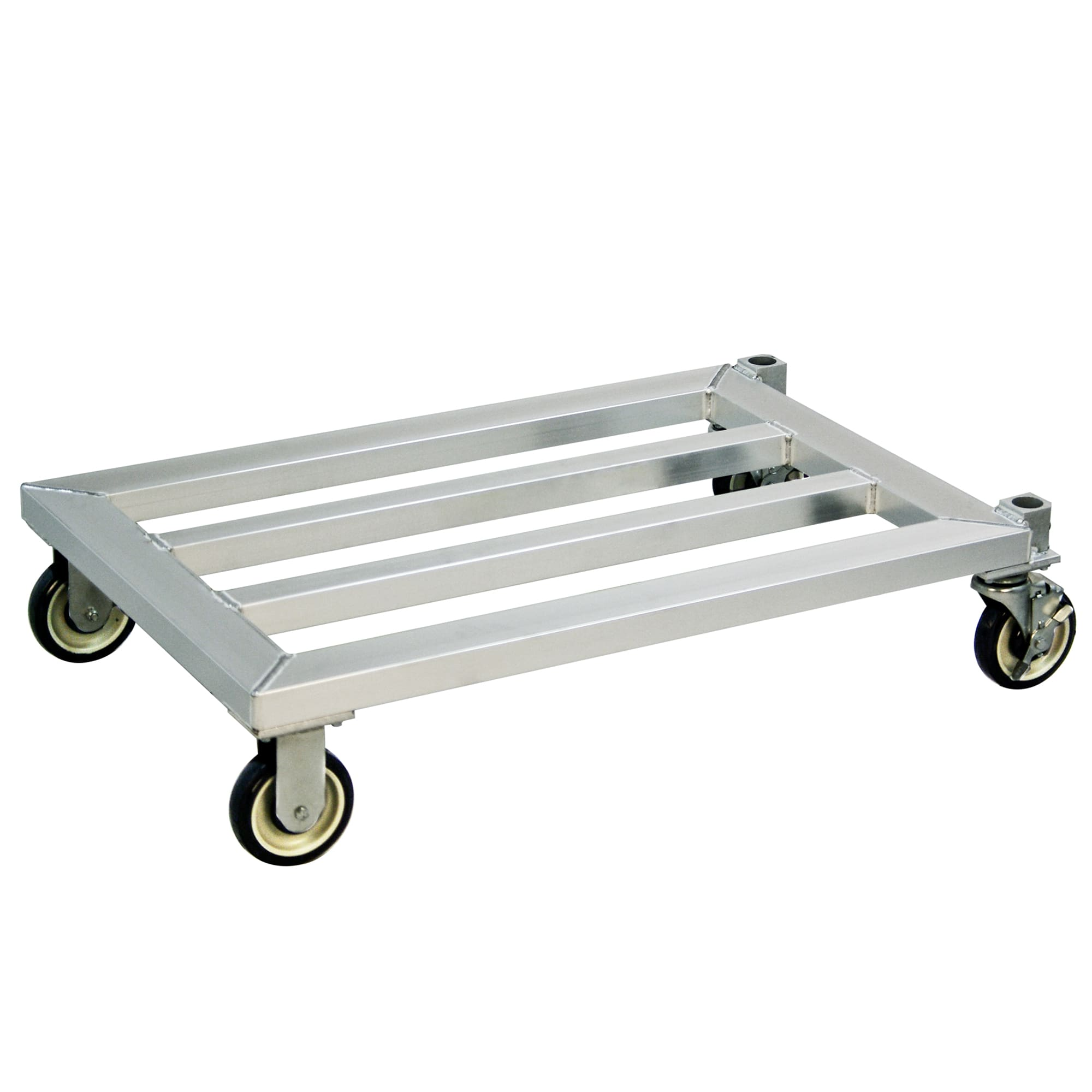 "New Age 1204 37.75"" Mobile Dunnage Rack w/ 1000-lb Capacity, Aluminum"